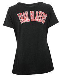 Adidas Originals Black Women's Portland Trail Blazers Basketball Scoop T-shirt