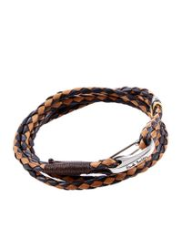 Paul Smith | Brown Woven Leather Bracelet for Men | Lyst