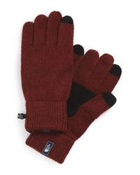 The North Face | Red 'salty Dog' E-tip Gloves for Men | Lyst