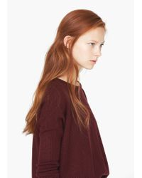 Mango | Red Round Neck Sweater | Lyst