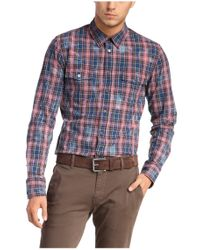BOSS Orange Red Checked Slim-fit Shirt In Cotton 'edaslime' for men