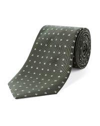 Alexandre Of England - Green Silk Club Jacquard Tie for Men - Lyst