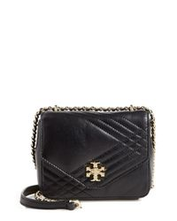 Tory Burch | Black 'mini Kira' Quilted Crossbody Bag | Lyst