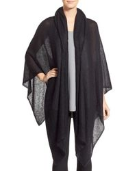 Eileen Fisher | White Mohair Blend Poncho | Lyst