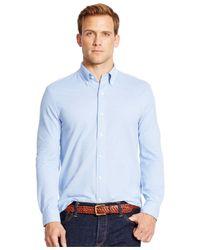Polo Ralph Lauren | Blue Knit Oxford Shirt for Men | Lyst