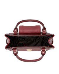 Dune Purple Danica Quilted Patent Trim Tote Bag