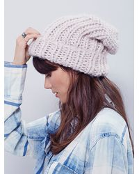 Free People - Natural Womens Skyline Chunky Beanie - Lyst