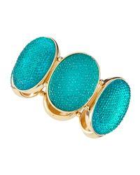 Fragments - Green Caviar Crystal Stretch Bracelet - Lyst