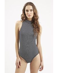 TOPSHOP | Blue Stripe Body | Lyst