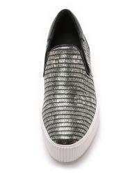 Ash Karma Slip On Sneakers - Nickel/black