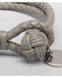 Bottega Veneta Natural Fume Intrecciato Nappa Bracelet