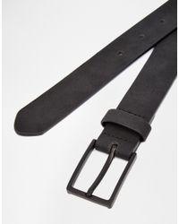 ASOS - Smart Belt In Black Faux Suede for Men - Lyst