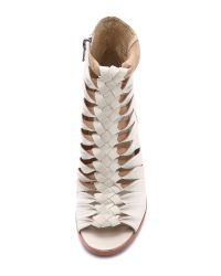 Frye Natural Sofia Braided Booties - Off White