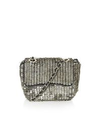 TOPSHOP Metallic Embellished Metal Crossbody Bag