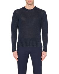 Ralph Lauren | Blue Linen Jumper for Men | Lyst