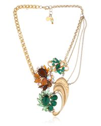 Maria Zureta | Metallic Green & Amber Necklace | Lyst
