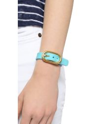 Marc By Marc Jacobs Blue Buckle Up Silicone Bracelet - Black Multi