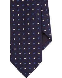 J.Crew - Blue Drake's Silk Tie In Geometric Print for Men - Lyst