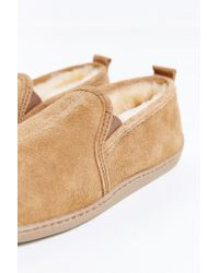 Minnetonka | Brown Twin Gore Sheepskin Slipper for Men | Lyst