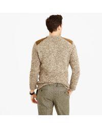 J.Crew Brown Wool-alpaca Shoulder-patch Sweater for men