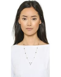House of Harlow 1960 - Metallic Triangle Trellis Necklace - Lapis - Lyst