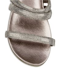Kenneth Cole Reaction Metallic Slim Shotz Beaded Sandals