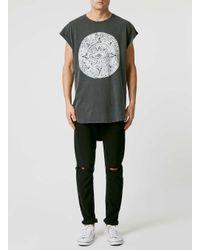 TOPMAN - Gray Black Ouija Line T-shirt for Men - Lyst