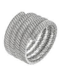 John Hardy - Metallic Classic Chain Silver Multiple Coil Bracelet - Lyst