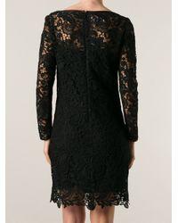 Ralph Lauren Black Label Black Lace Panel Dress