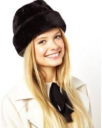 ASOS Black Traditional Fur Cossack Hat