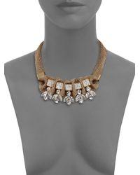 ABS By Allen Schwartz | Metallic Box Of Jewels Drama Mesh Necklace | Lyst