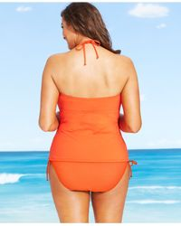 Michael Kors | Orange Michael Plus Size High-waist Side-tie Swim Brief Bottom | Lyst