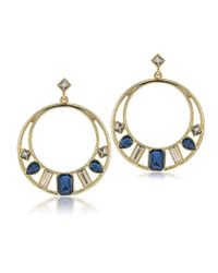 Carolee | Blue Note Gemstone Hoops | Lyst