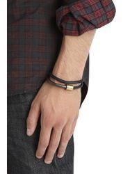 Miansai | Black Double Wrap Cuff for Men | Lyst