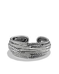 David Yurman - Metallic Labyrinth Triple-loop Cuff With Diamonds - Lyst