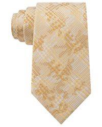 Sean John - Yellow Houndsooth Plaid Tie for Men - Lyst