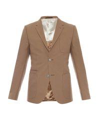 Gucci Brown Firenze Single-breasted Cotton Blazer for men