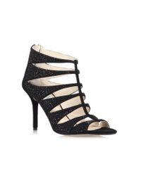 Michael Kors | Black Mavis Open-toe Embellished Suede Sandal | Lyst