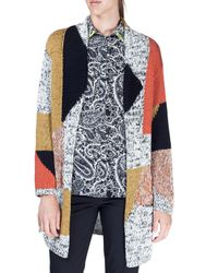 Etro - Multicolor Geometric Melange Knit Sweater - Lyst