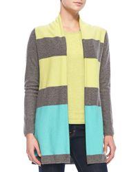Belford | Multicolor Colorblock Cashmere Cardigan & Cami Set | Lyst