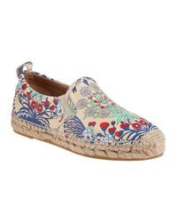 Marc By Marc Jacobs | White Floral print Washed leather Espadrilles | Lyst