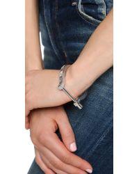 Miansai | Metallic Lorem Cuff Bracelet - Silver | Lyst