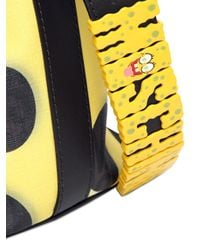 Moschino Yellow Sponge Bob Coated Canvas Bucket Bag