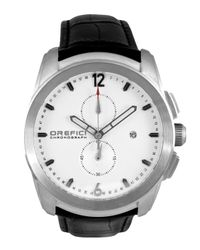 Orefici Watches - Black Classico Chronograph Watch With Leather Strap for Men - Lyst