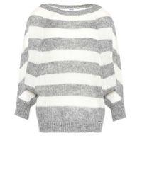 Liu Jo | Gray 'stripes' Kimono Jumper | Lyst