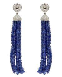 Poiray - Blue Tassel Sapphire Earrings - Lyst