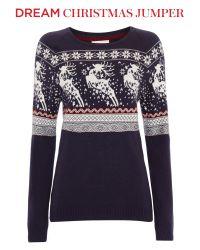 Linea Weekend Black Novelty Prancing Reindeer Knitted Jumper