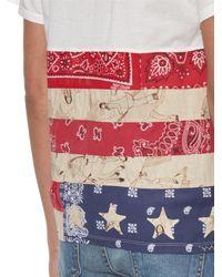 Visvim White American-flag Cotton T-shirt
