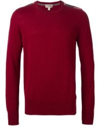 Burberry Brit - Red Crew Neck Sweater for Men - Lyst