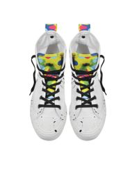 Converse White All Star High Top Camo Black Splash Canvas Sneaker for men